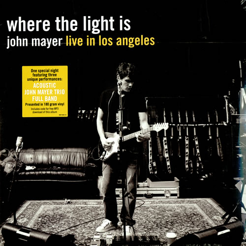 john mayer where the light is live in los angeles 4lp. Black Bedroom Furniture Sets. Home Design Ideas